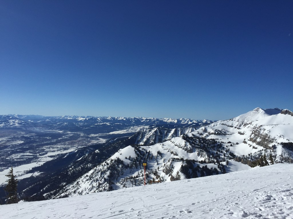 {our first day was bluebird all the way! we could see forever.}