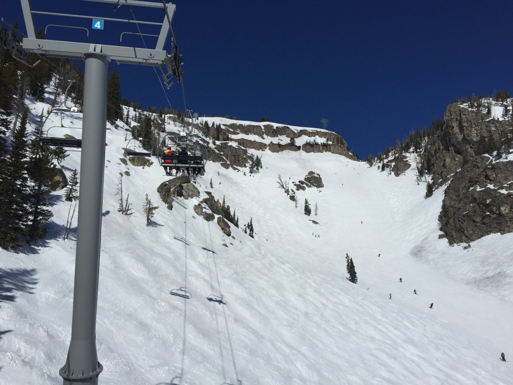 {one of our favorite areas to ski - off the Sublette Chair}