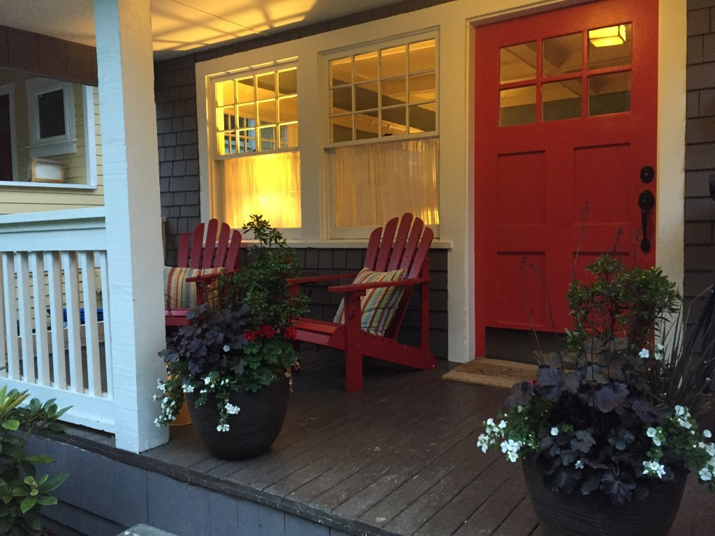 {our front porch is even more red!}