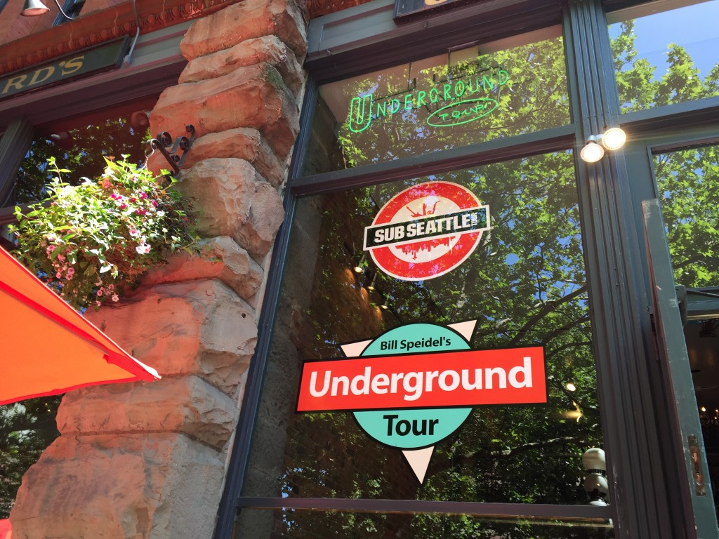 {John really wanted to do the Underground Tour while he was here, so we made that happen. The tour is a comedic history lesson that provides a look under Seattle's sidewalks and roadways into the underground space.}