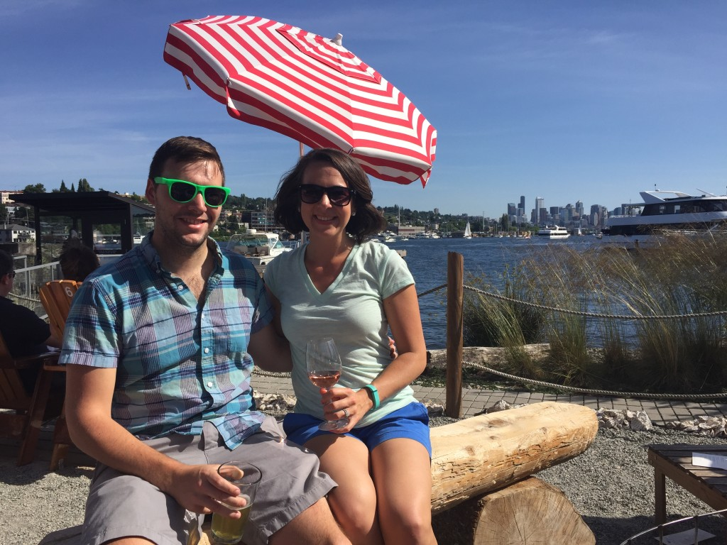 {our Saturday afternoon plans of going paddle boarding were shut down by the wind, so we went with Ryan and Mary to Westward, an absolutely adorable water-side restaurant on Lake Union for a drink}
