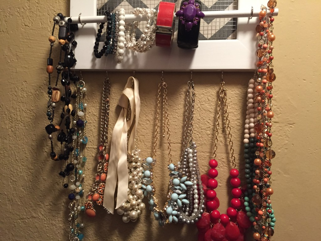 {I'm having so much fun having my jewelry be kept in my closet now and displayed so I can see it when I pick out an outfit to wear}