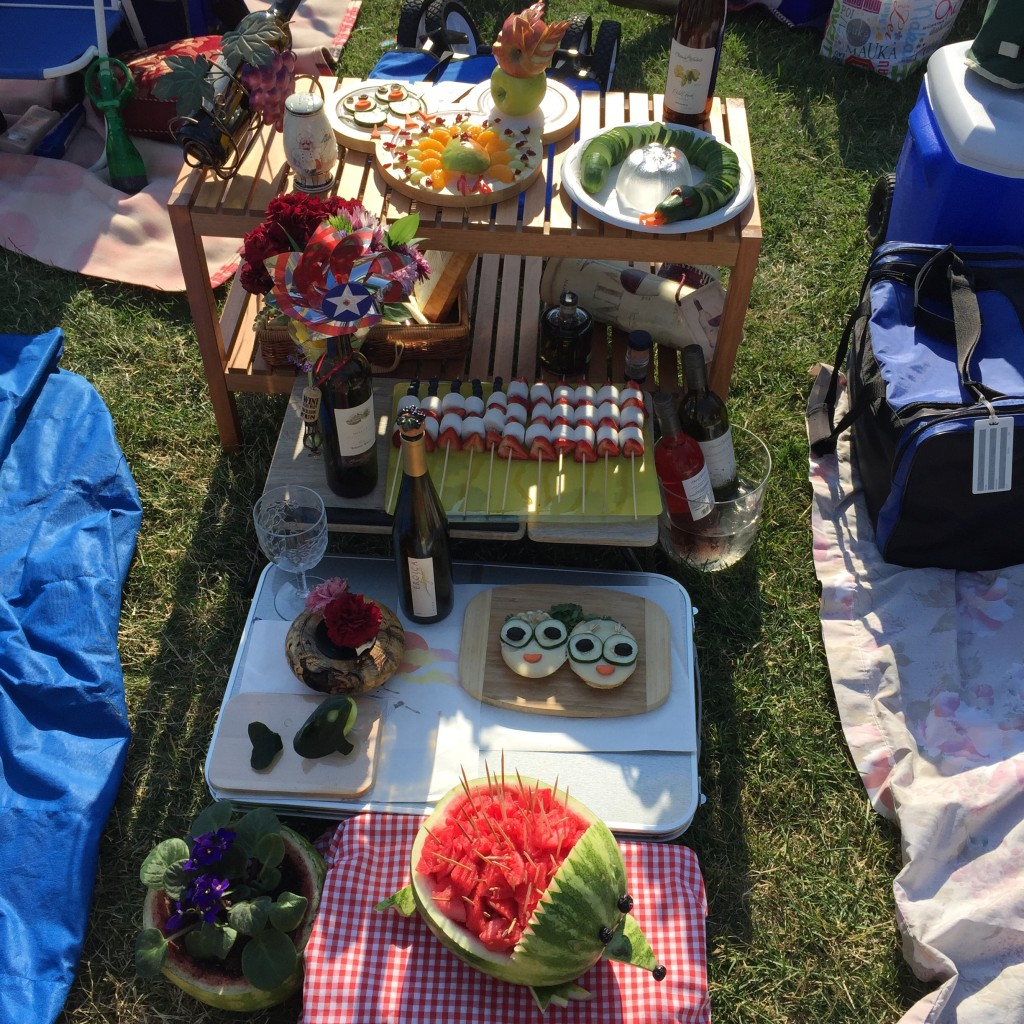 {this was seriously someone's picnic!}