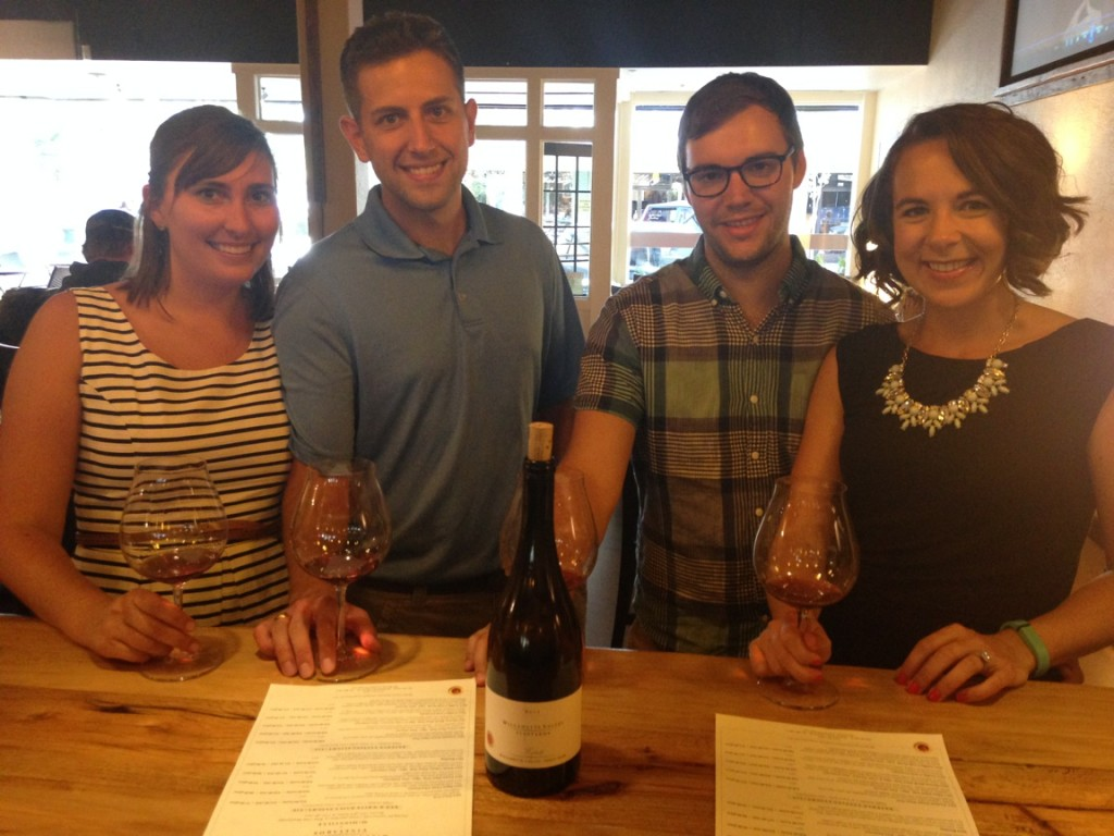 {Our first tasting of the weekend at Willamette Vineyards tasting room in McMinnville!}