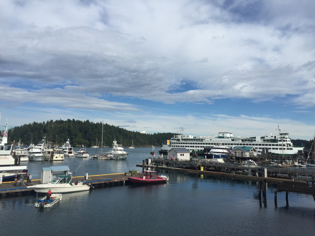 {Friday Harbor and the ferry terminal}