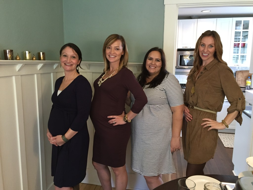{all of the beautiful mamas-to-be who were at the shower!}