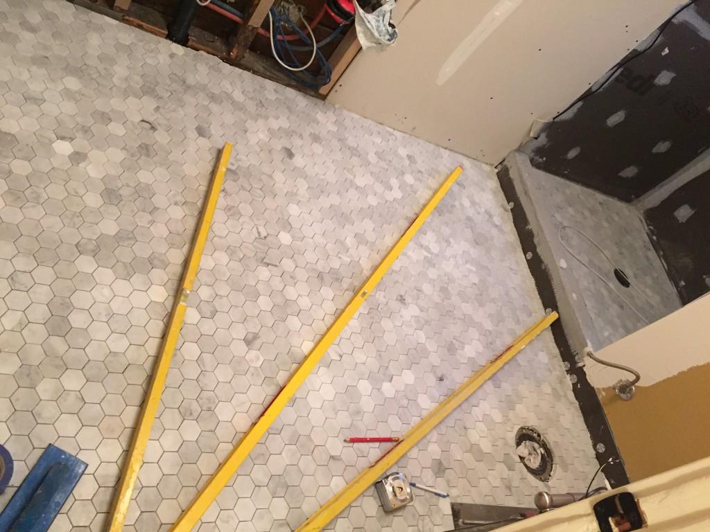 {New floor tiles!}