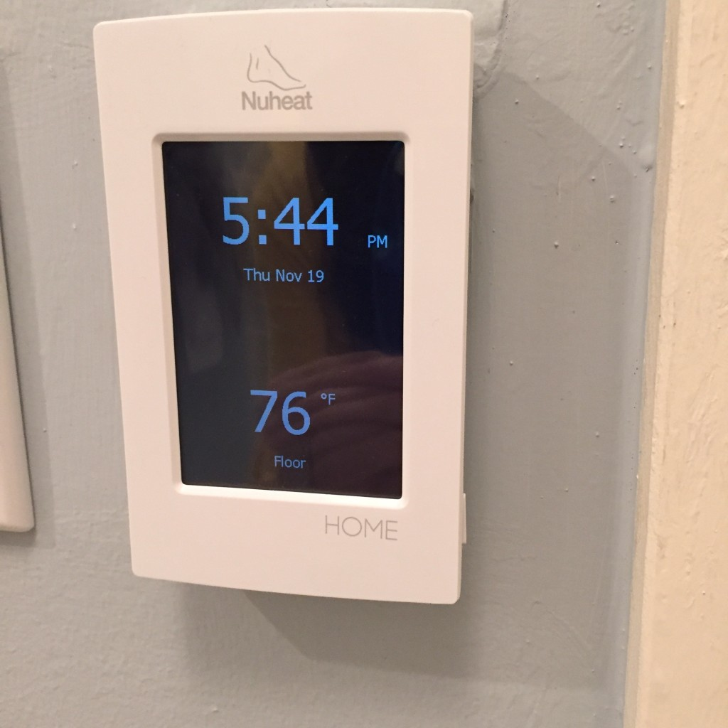 {Thermostat for the radiant heat!}