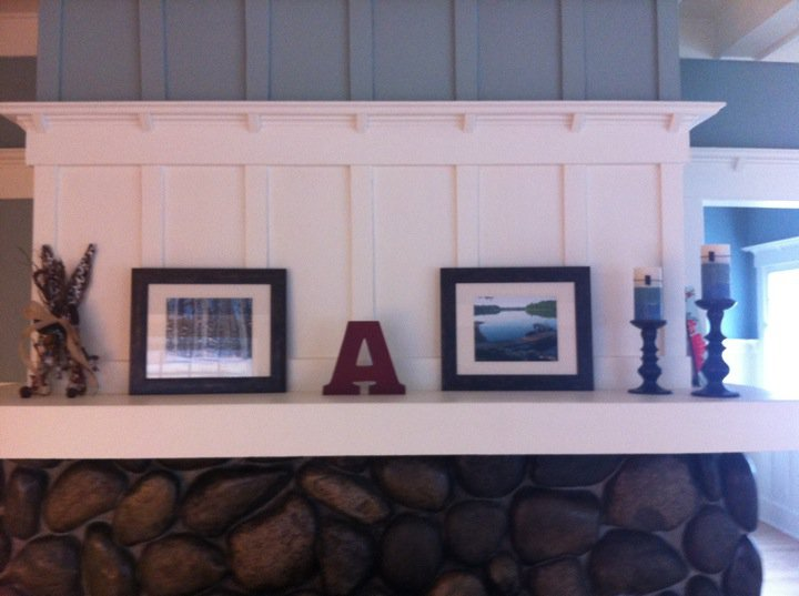 {This is how our mantle looked for at least four years.}