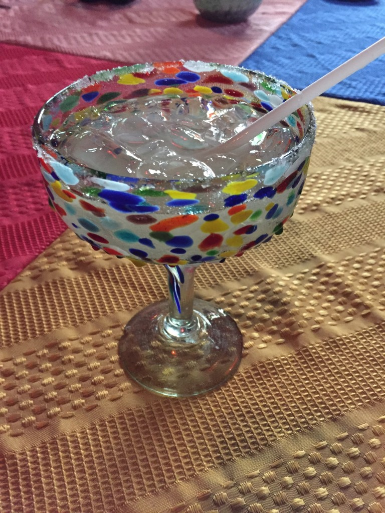{The margarita glasses were so pretty!}