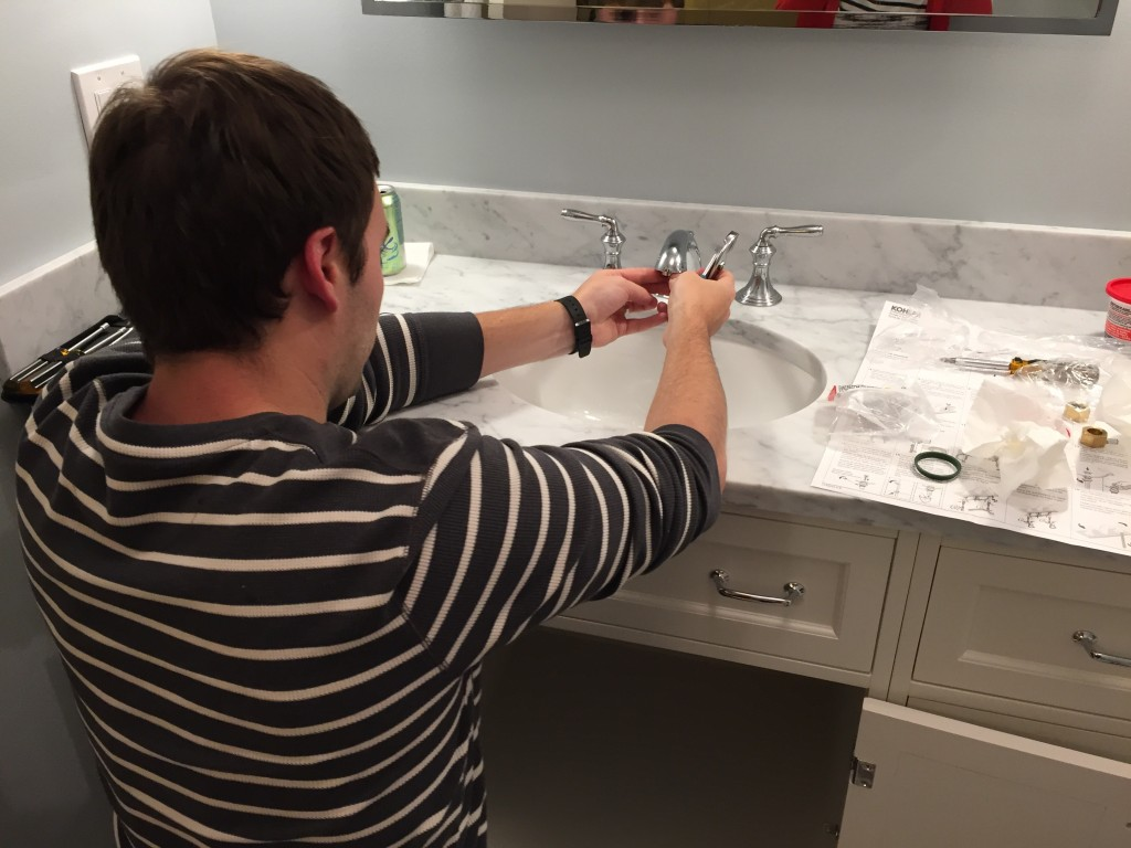 {Our master plumber ;) }