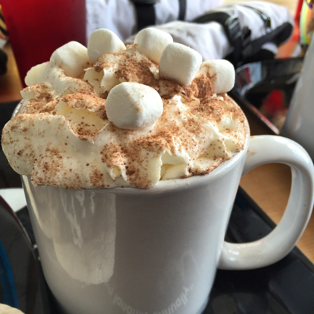 {Best mountain hot chocolate is at Whistler!}