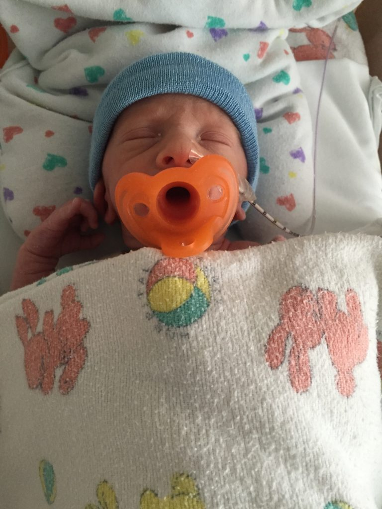 """{Ben and his """"binky"""" and hospital blankets... I swear if I never hear the word """"binky"""" after the NICU I'll be a happier person!}"""