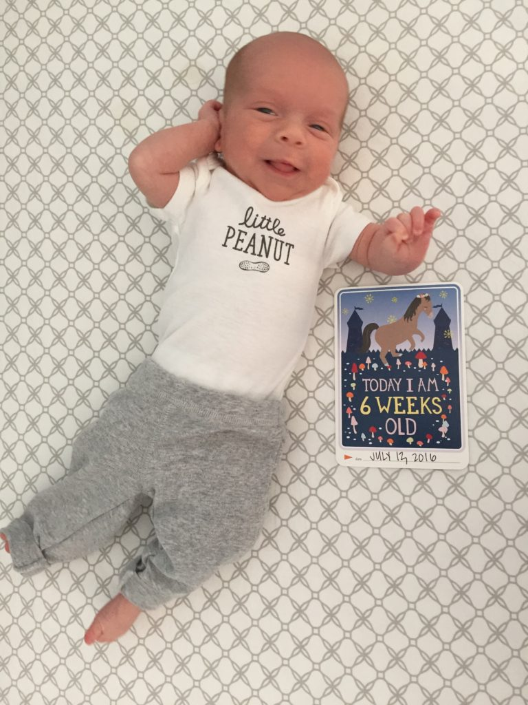 {A week ago today Ben turned 6 weeks old! That means he's 7 weeks old now :) }