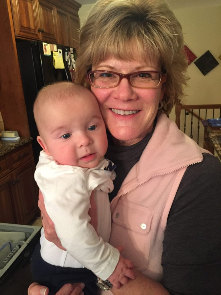 {Aunt Karen stopped over to meet Ben.}