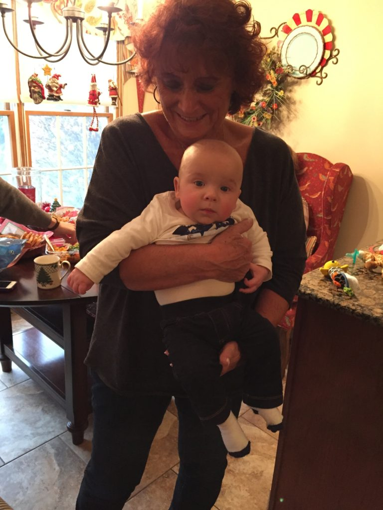 {Meeting his Great Aunt Chris.}