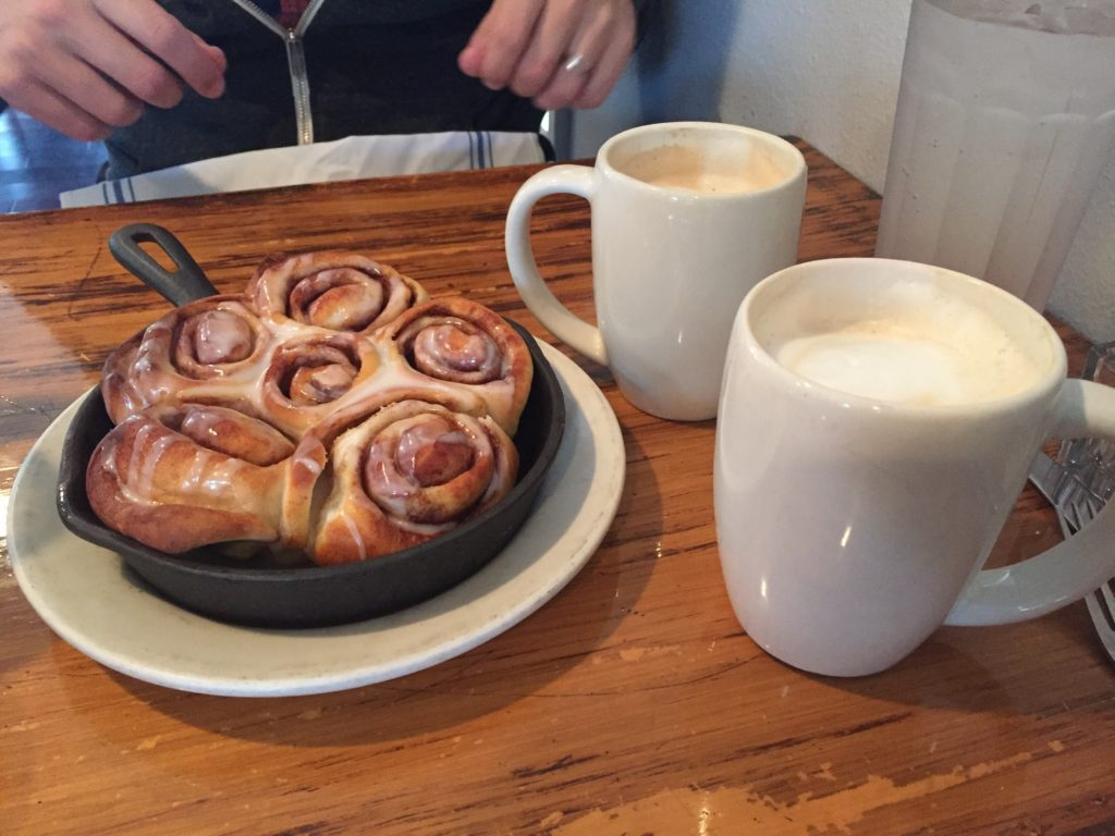 {cinnamon rolls + coffee the next morning!}